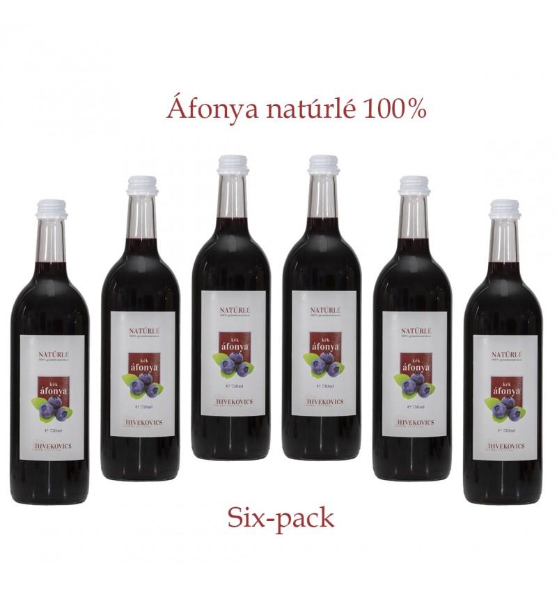 Áfonya natúrlé (100%) six-pack