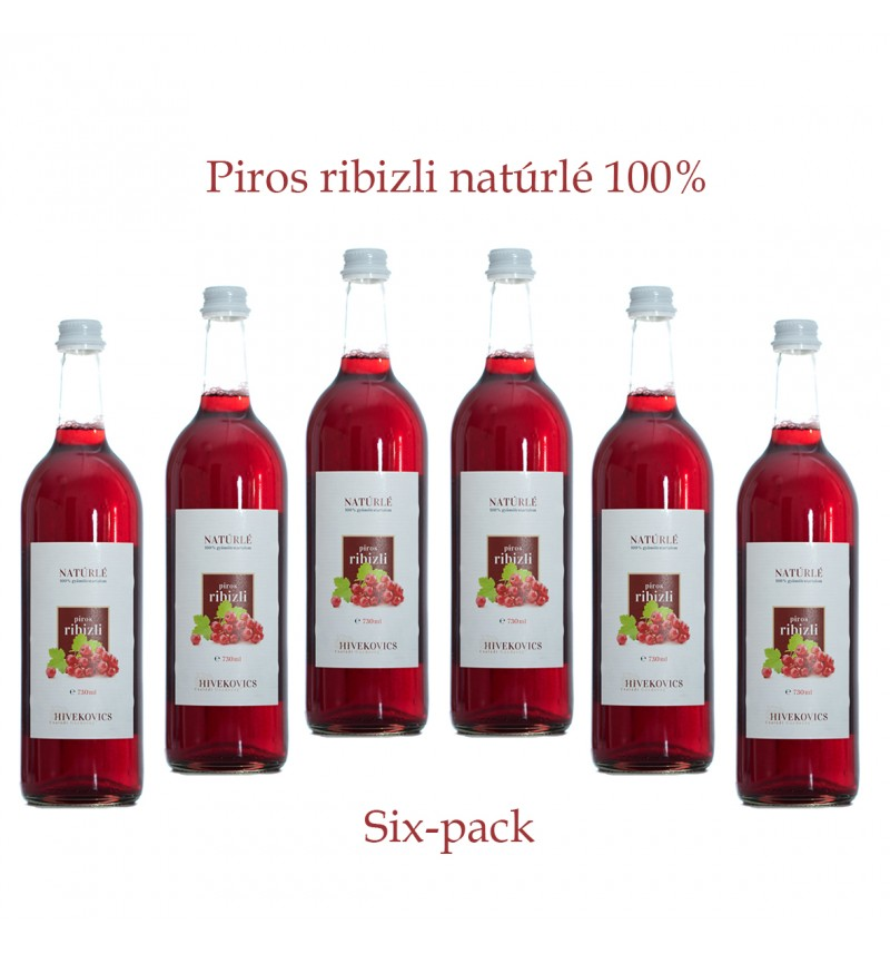 Piros ribizli natúrlé (100%) six-pack