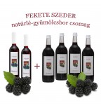 Fekete szeder natúrlé-gyümölcsbor csomag